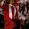 Lindsay High School graduate Johnny Salazar acknowledges his family after receiving his diploma on Friday, June 13, 2014.