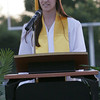 Rachel Harrison gave the Welcome for the Class of 2014 at Lindsay High School's Commencement Ceremony.