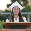 Rebecca Macareno gave a Learner Address to a packed house at Frank Skadan Stadium for the 2014 Lindsay High School Commencement ceremony.