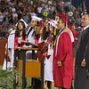 Lindsay High School held its 2015 Graduation Ceremony on Friday, June 12, 2015. Lindsay High School Principal Jaime Robles joins members of the LHS Class of 2015 in singing the LHS Alma Mater.