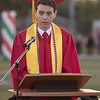 Lindsay High School held its 2015 Graduation Ceremony on Friday, June 12, 2015. A graduation speech. David Castro addresses his fellow graduates during the Commencement.