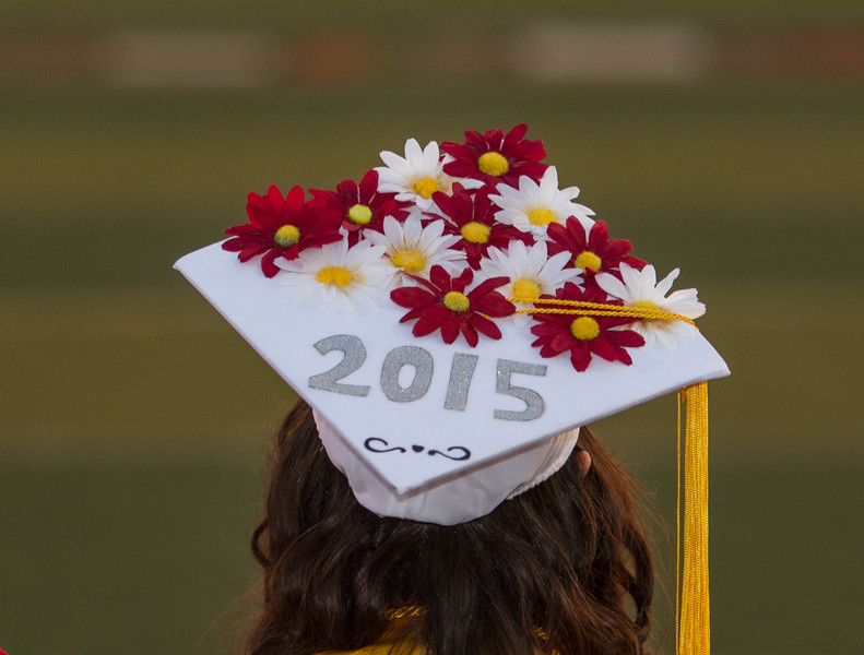 Lindsay High School held its 2015 Graduation Ceremony on Friday, June 12, 2015. A decorated graduation cap.