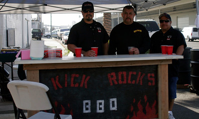 The Kick Rocks BBQ team at the Lindsay Rib Cook Off. Saturday, November 2, 2013.