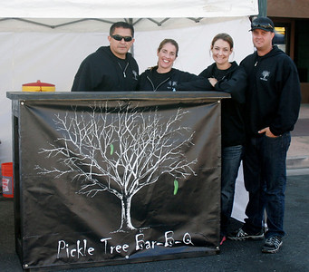 Pickle Tree Bar-B-Q team at the Lindsay Rib Cook Off on Saturday, November 2, 2013.