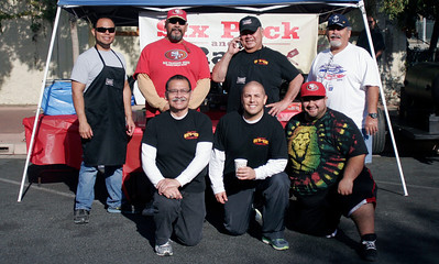 The Six Pack and a Rack crew at the Linday Rib Cook Off on Saturday, November 2, 2013.