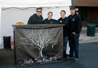 Pickle Tree Bar-B-Q at the Lindsay Rib Cook Off on November 2, 2013.