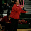 Lindsay Cardinal Girls Basketball coach Frankie Arguelles gives instructions to his players on Wednesday, March 6, 2013 against Cantwell-Sacred Heart.