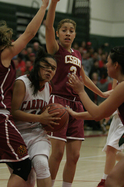 Lindsay Cardinal Christina Castro drives the key against Cantwell-Sacred Heart on Wednesday, March 6, 2013.