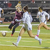 TU Tribe star Jaci Maze takes a shot on the Madera South goal in Central Section playoff action.The Tribe scored a 6-0 victory.