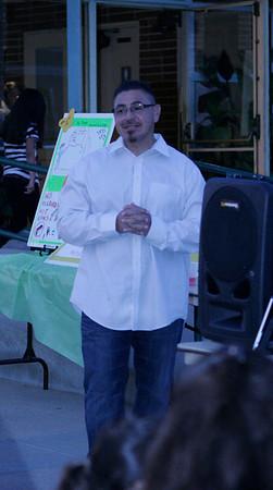 Former gang member Daniel Longoria speaks at the MUAGV Vigil on Saturday, March 16, 2013.