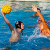 Mt. Whitney's Travis Applegate attempts a goal in their CIF Central Section D3 Boys Water Polo Championship game against Tulare Western at the Golden West High School pool. TW went on to defeat the Pioneers by a 16-11 score to claim the title.