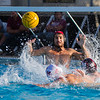 Mt Whitney goalkeeper Ethan Bennett (facing) gets ready to block a shot from  Aidan Champagne (10) of Tulare Western while Mt. Whitney's Jacob Canaday defends.  Tulare  Western would come out with a 16-11 win to be crowned the CIF Central Section D3 champions.