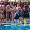The Tulare Western water polo team celebrates their CIF Central Section D3 Championship by tossing Coach David Hodge into the pool. The Mustangs defeated the Mt. Whitney Pioneers 16-11 to capture the title.