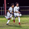 The Strathmore Spartans lost a heartbreaker to the Orange Cove Titans in the Central Section Division 6 Valley Final Soccer match. The game ended in a 1-1, with Orange Cove winning the shot-out by a 3-1 score to get the win. Strathmore players Osvaldo Ibarra (10) and Alejandro Bermudez (11) celebrate Ibarra's goal in the second period.