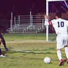 The Strathmore Spartans lost a heartbreaker to the Orange Cove Titans in the Central Section Division 6 Valley Final Soccer match. The game ended in a 1-1, with Orange Cove winning the shot-out by a 3-1 score to get the win. Strathmore standout Michael Barraza attempts a shot on the Orange Cove goal.