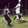 The Strathmore Spartans lost a heartbreaker to the Orange Cove Titans in the Central Section Division 6 Valley Final Soccer match. The game ended in a 1-1, with Orange Cove winning the shot-out by a 3-1 score to get the win. Strathmore middle fielder Alejandro Bermudez (11) goes  above the Orange Cove defenders on a header.