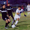 The Strathmore Spartans lost a heartbreaker to the Orange Cove Titans in the Central Section Division 6 Valley Final Soccer match. The game ended in a 1-1, with Orange Cove winning the shot-out by a 3-1 score to get the win. Strathmore MF Alejandro Bermudez advance the ball against Orange Cove Titan defender Michael Barraza (10)