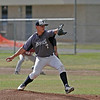Farmersville Aztec pitcher Sam Metcalf hurled 5 innings to get a 14-2 win over the Orosi Cardinals in the CIF Central Section Division VI playoffs.