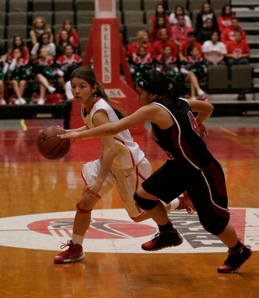 Lindsay Cardinal G Destiny Garcia scored a team high 18 points in the Cardinal's 50-38 win over Orosi in the CIF Central Section Division IV final.
