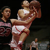 Lindsay Cardinal G Destiny Garcia (10) scored lay ups on several fastbreaks in route to 18 points in Linday's 50-38 win over Orosi in the CIF Central Section Division IV Final.