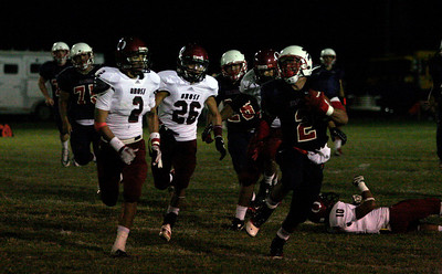 Strathmore's Ricardo Madrigal (2) rushed for 190 yards on just 7 carriers in the Spartan's 42-14 win against Orosi on September 20, 2013.
