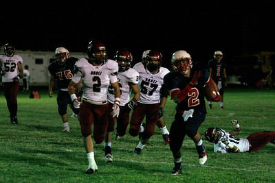 Ricardo Madrigal averaged over 27 yards/carry gaining 190 yards on just 7 carries against Orosi on Friday, September 220, 2013.