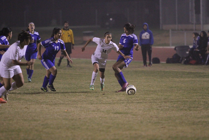 The Woodlake Tiger girls soccer team won the non-league contest against Parlier 1-0.