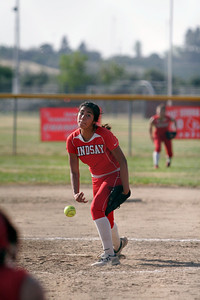 Lindsay Cardinal pitcher Lina Padilla was back in action against Sierra Pacific on Thursday, April 25, 2013.