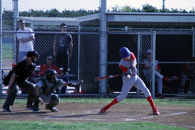 Strathmore's Ryan Horner swings at a pitch during the game against Sierra Pacific on March 19, 2013. Sierra Pacific 12, Strathmore 0.