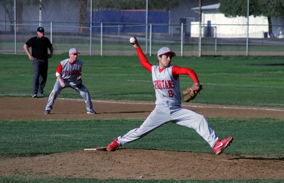 Strathmore's Eric Lopez relieved starter Clay Sharp in Tuesday, March 19th's game against Sierra Pacific.