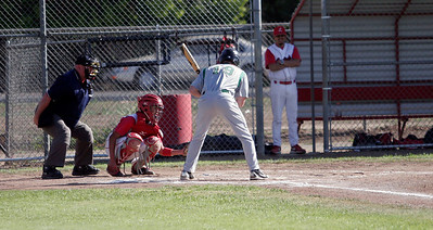 Sierra Pacific's Connor Mannix at bat against Lindsay on 4-9-13.