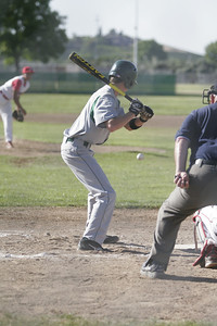 Sierra Pacific player Cody Rossi eyes a pitch from Linday's Israel Uribe on 4-9-13.