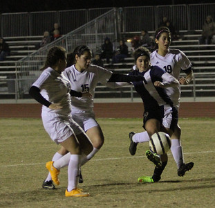 The Strathmore Spartans defeated the host Woodlake Tigers by a 7-1 score to improve their overall record to 12-2-1. The Spartans are 4-0 in ESL play. The Strathmore Spartan Girl's soccer team beat host Woodlake 7-1. The Spartan's now own a 12-2-1 record overall.