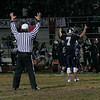 Farmersville Aztec quarterball Sam Metcalf (7) acknowledges the Aztec faithfull after throwing his record breaking 51st touchdown pass.