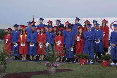 Other half of the Strathmore High School Class of 2013 at graduation ceremony on Friday, May 24, 2013. Student with the gold sash is Maria Fernandez, CSF Gold Seal Bearer.