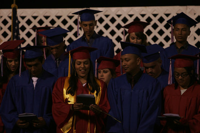 Strathmore High Class of 2013 sing the alma mater after receiving their diplomas on May 24, 2013.