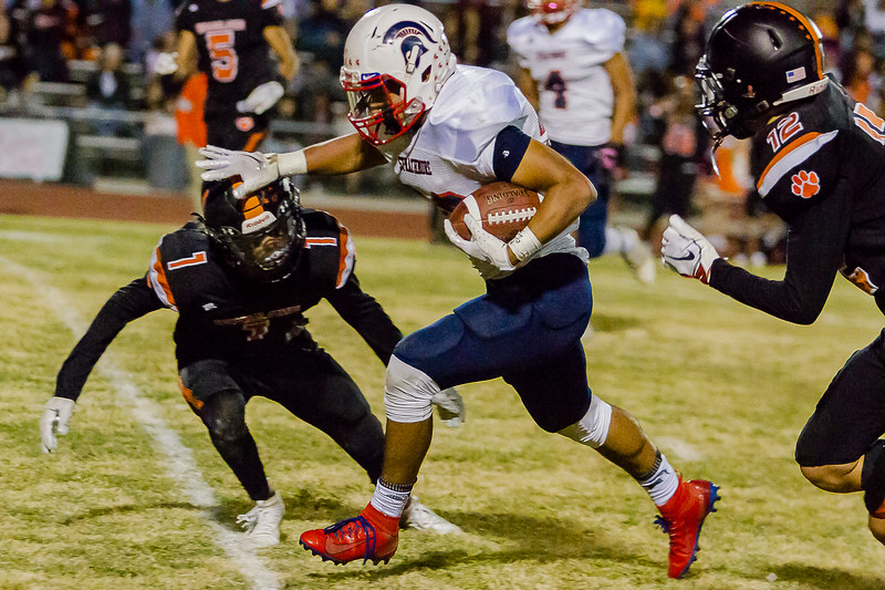 Strathmore RB Carlos Moreno ran 22 times for 95 yards in the Spartan's 26-22 victory at Woodlake.