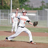 Woodlake Tigers pitcher Spencer Jones lets it fly during Friday's game against Strathmore. The Spartans upset Woodlake 3-1.