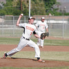 Spencer Jones of Woodlake High School pitches against Strathmore on Friday, May 2. Strathmore upset Woodlake 3-1.