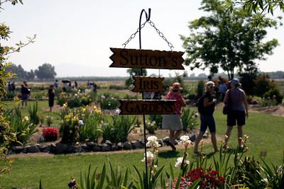 Entrance to Sutton's Iris Garden as seen during the annual Porterville Iris Festival on Saturday, April 27, 2013.