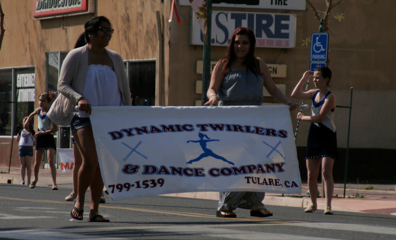 Tulare's Dynamic Twirlers placed 1st in the Baton/Music division of the 2014 Orange Blossom Festival parade.