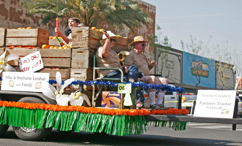 Orange Blossom Festival Honored Couple enjoyed the participation in the OBF Parade on Saturday.