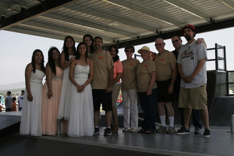 Many in the City of Lindsay were involved in the move of Lindsay's skate board park to City Park, they include Mayor Pro-tem Danny Salinas, next to his daughter, Megan, Mayor Ramona Padilla, next to Salinas, City Manager/Public Safety Chief Rich Wilkenson and Matt Salinas, the last two on the right.