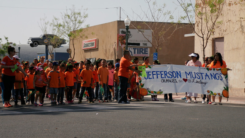 The Jefferson Elementry Mustang students placed 1st in the Miscellaneous division of the 2014 Orange Blossom Festival parade.