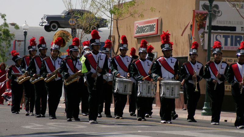 The LHS Marching Band was 1st place in the Band division of the 2014 Orange Blossom Festival parade.