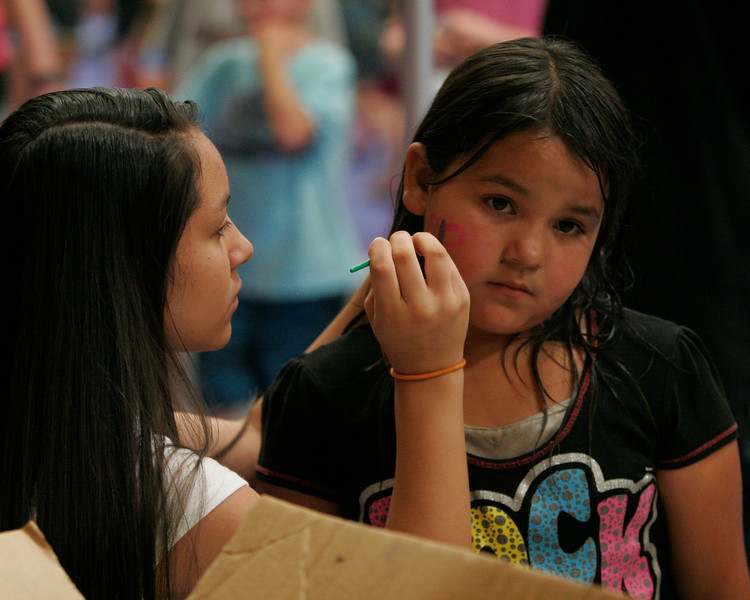 Face painting was one of the many activities at The Spirit and the Bride Kingdom celebration at the McDermont Field House in Lindsay on Saturday, June 14, 2014.