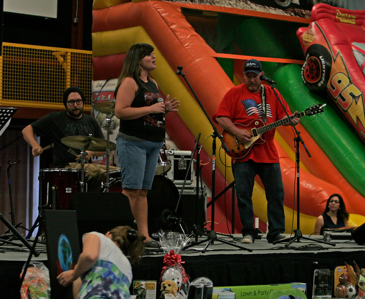 A spirit band band playing at The Spirit and the Bride Kingdom celebration at McDermont Field House in Lindsay on Saturday, June 14, 2014.