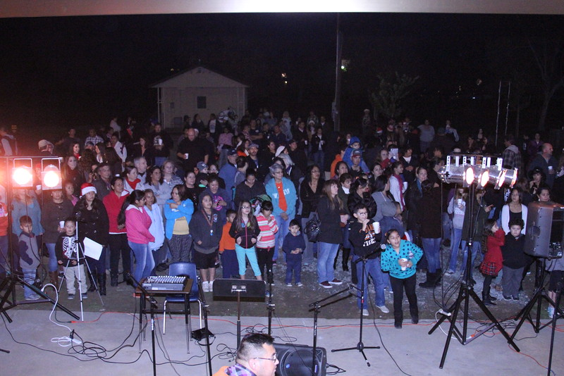 A large crowd of Woodlake residents enjoyed holiday festivities at the Woodlake Christmas tree lighting on Friday, December 5th.
