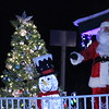 Santa Claus arrives at the annual Woodlake Christmas tree lighting on Friday, December 5th.