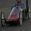 One of the participants in the Woodlake Kiwanis' Soap Box Derby held on Wednesday, May 7, 2014.